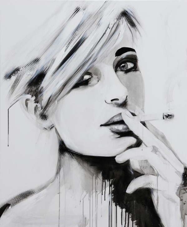 smoking girl painting emma sheldrake