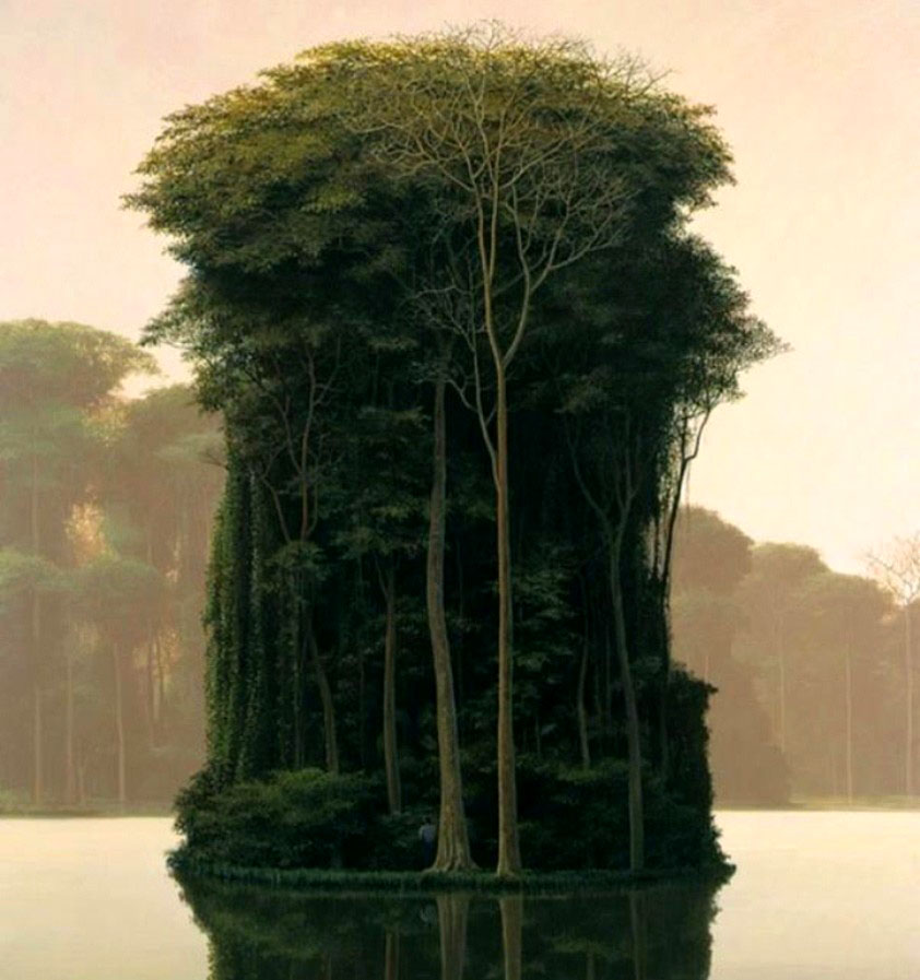 tree island oil painting tomás sánchez