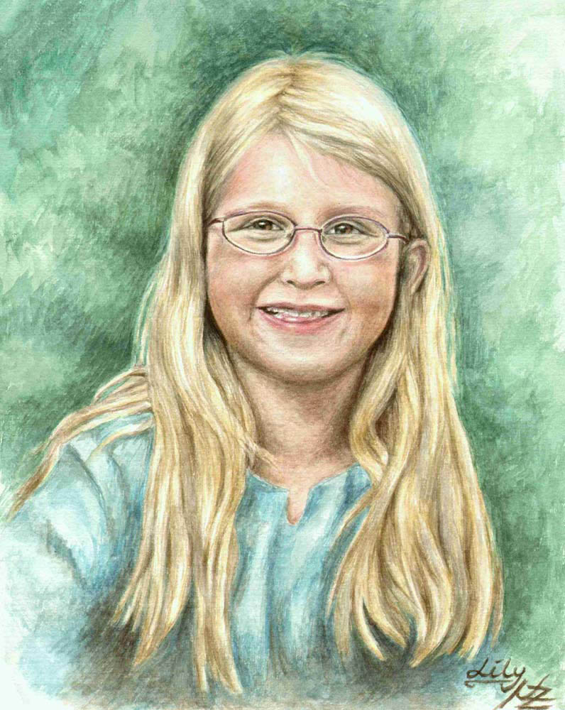 girl color pencil drawing nicole