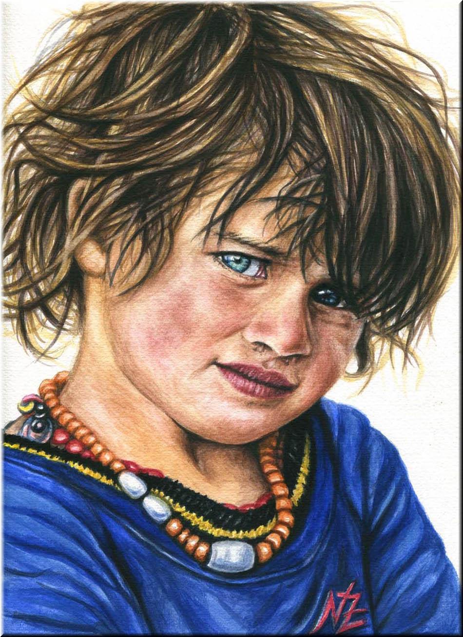 boy color pencil drawing nicole