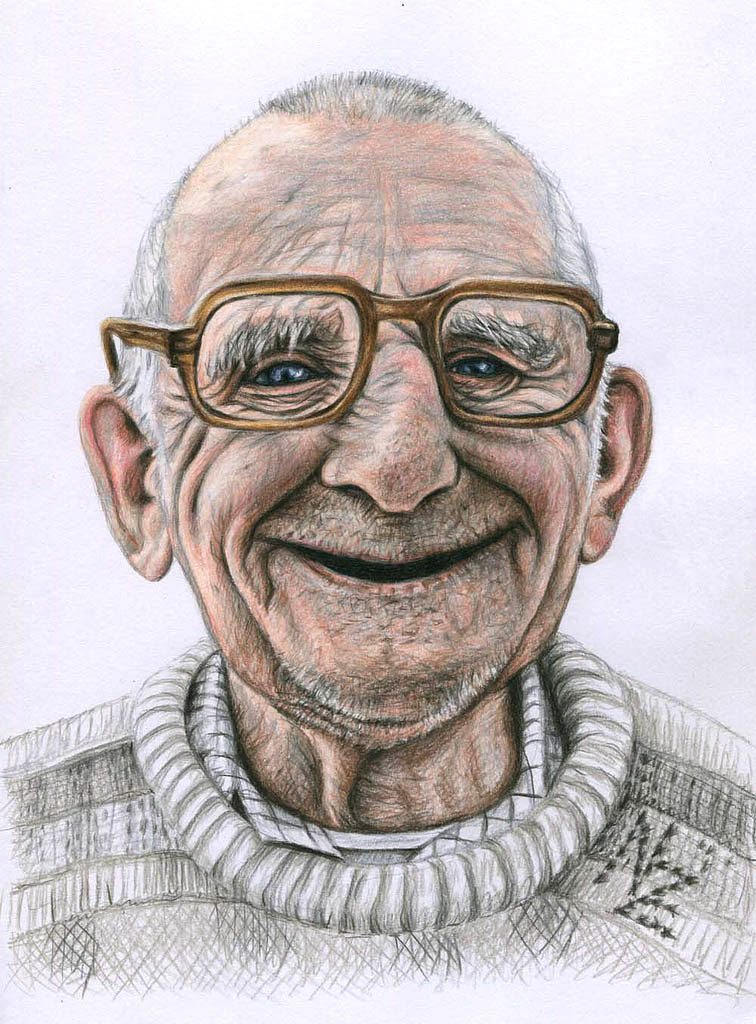 oldman color pencil drawing nicole