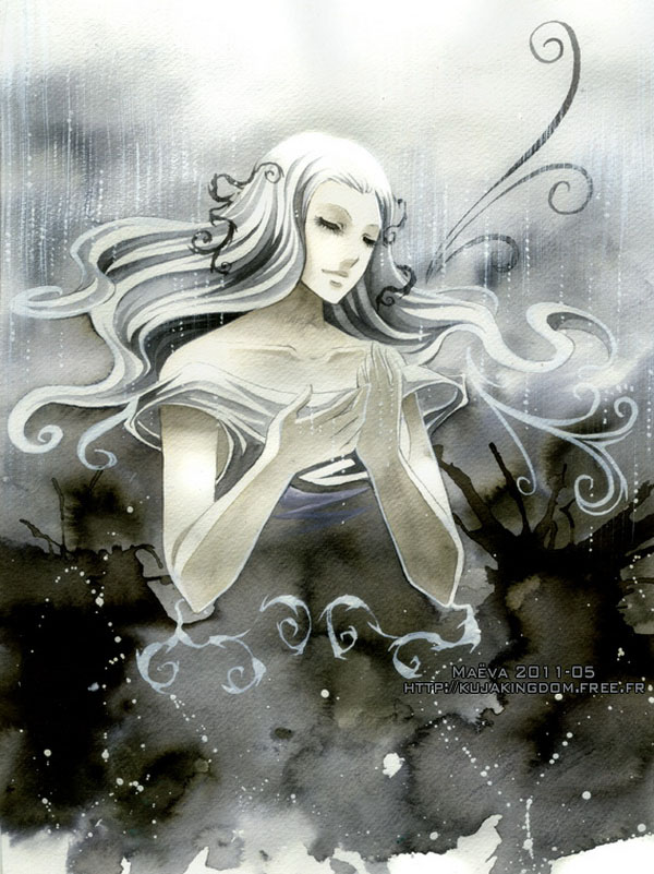 black watercolor paintings maëva