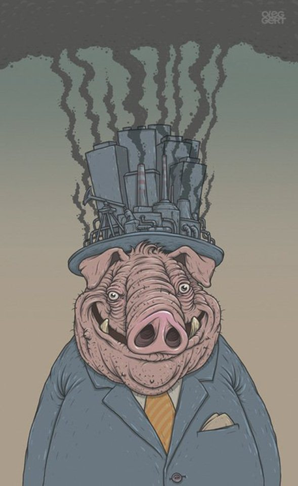 businessman pig drawing oleg gert