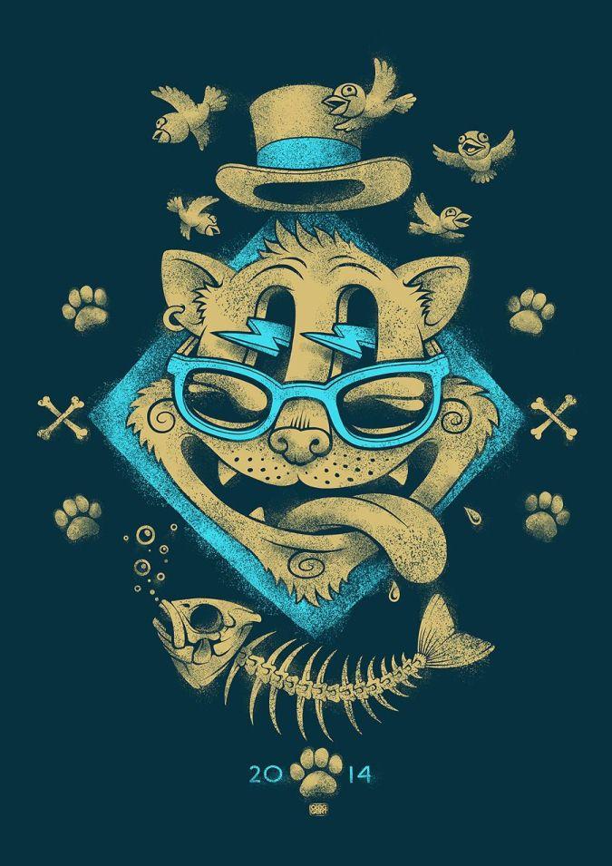 cat drawing oleg gert