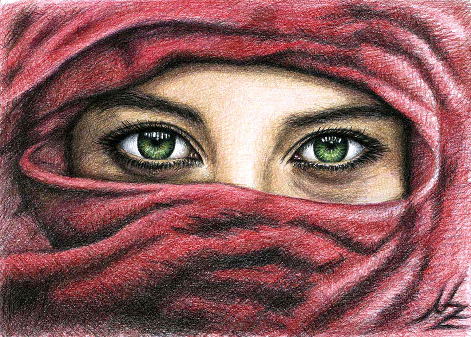 eyes color pencil drawing nicole