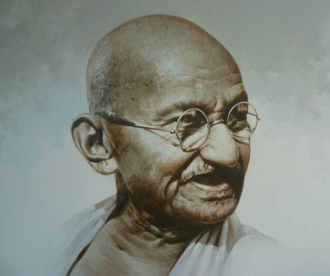 gandhi kerala painting rajasekharan