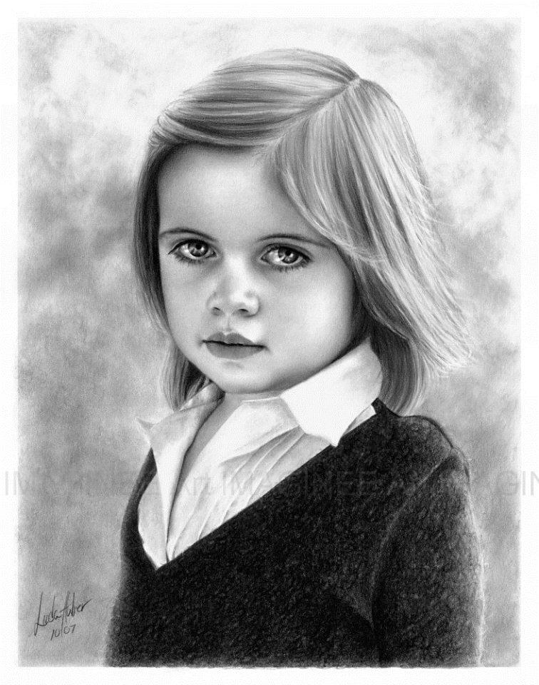 girl pencil drawing linda huber