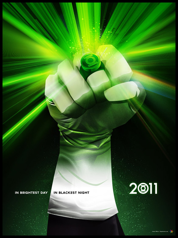 greenlantern digital art james