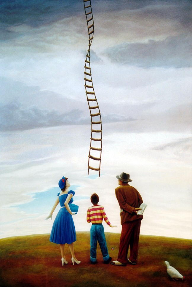 ladder painting richard baxter