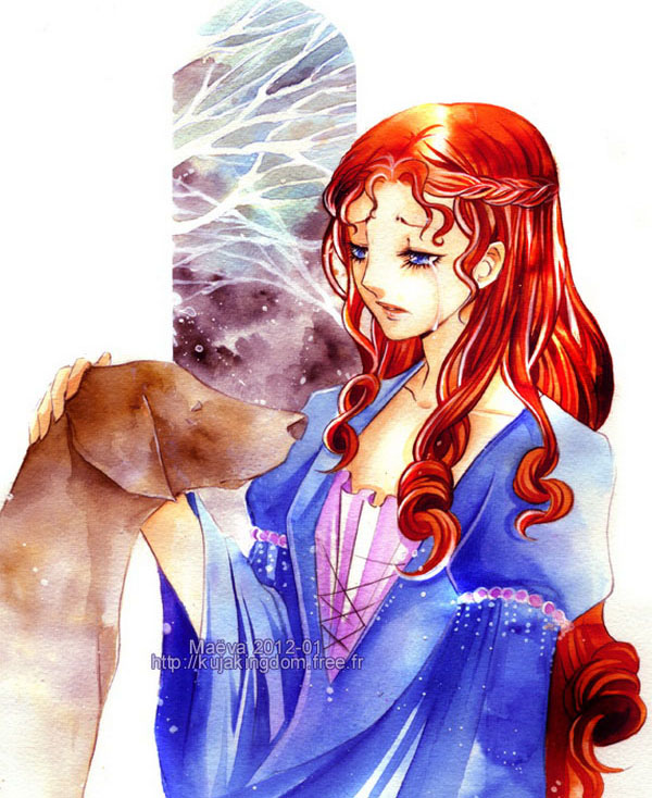 lady dog watercolor paintings maëva