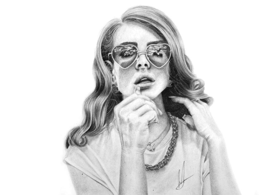 lana pencil drawing laura
