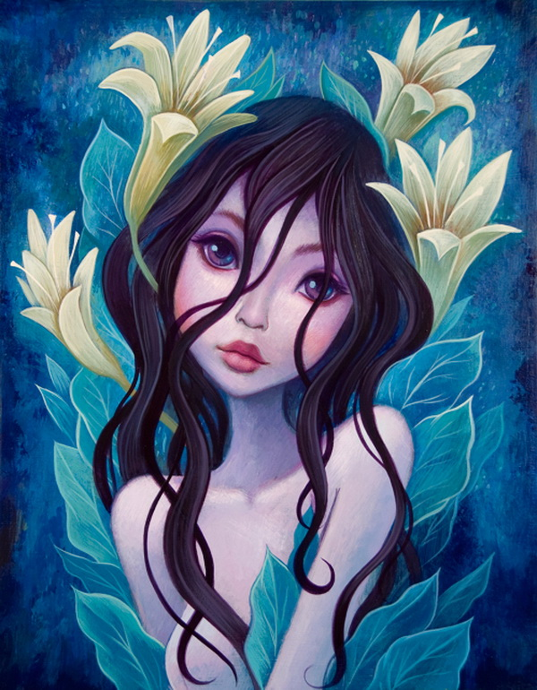 lilies girl paintings jeremiah