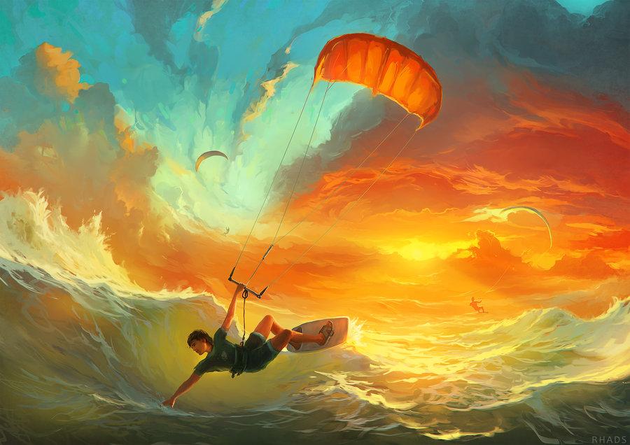 lords wind digital painting rhads