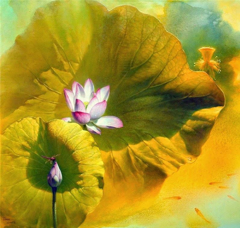 lotus bud painting jiang_0