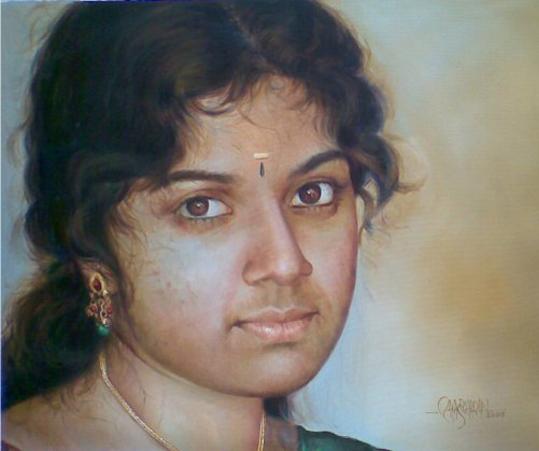 mallu girl kerala painting rajasekharan