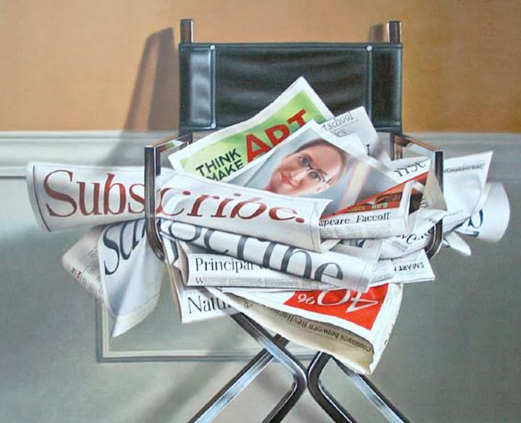 newspaper chair oil painting joan : newspaper chair - Cheerinfomania.Com