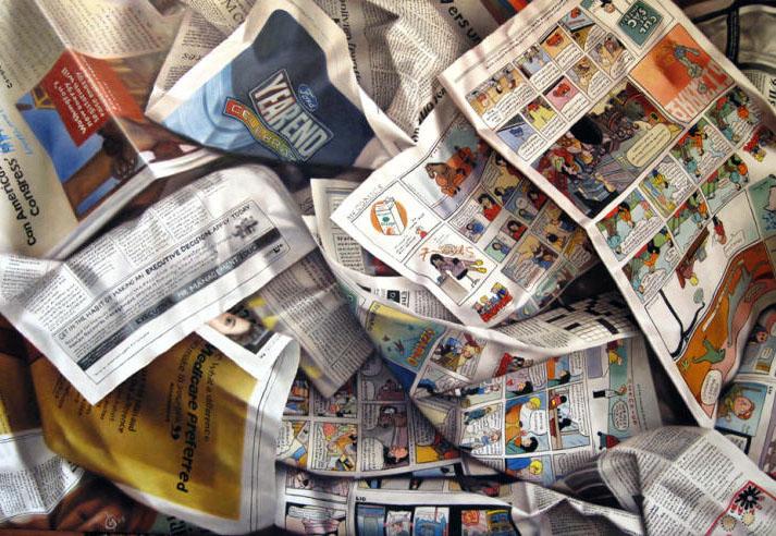 newspapers oil painting joan