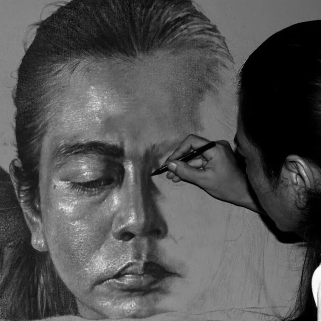 self drawing pencil drawing veri