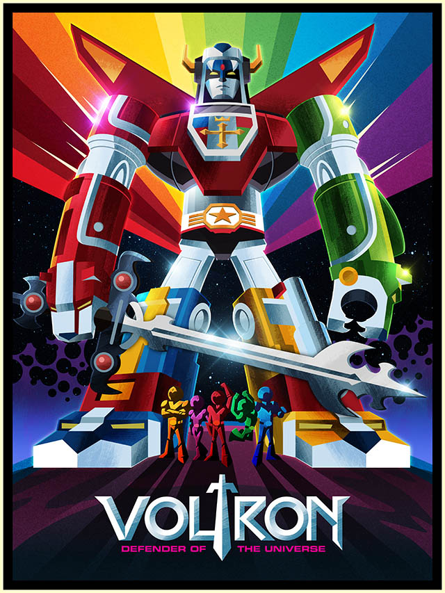 voltron digital art james