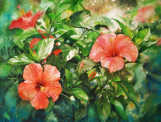watercolor painting kuan