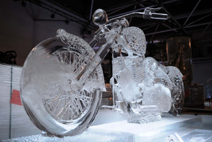 bike ice sculptures