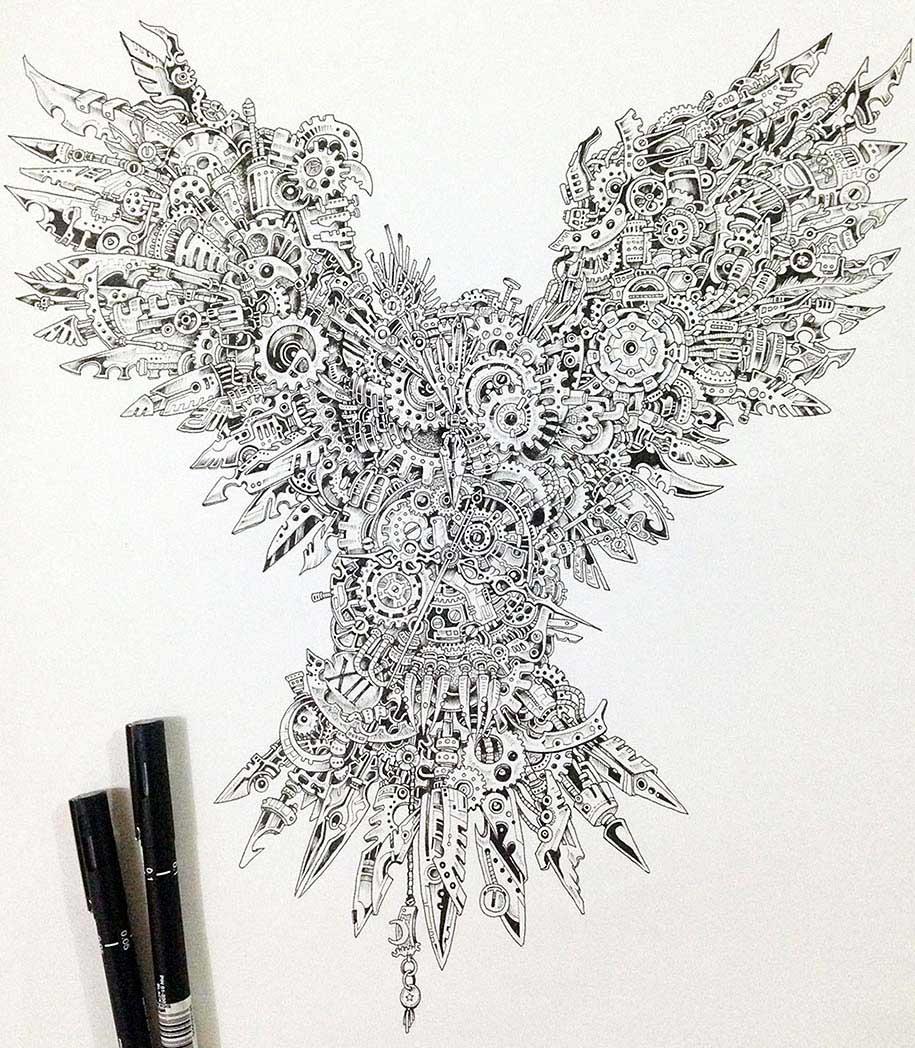 bird mural kerby