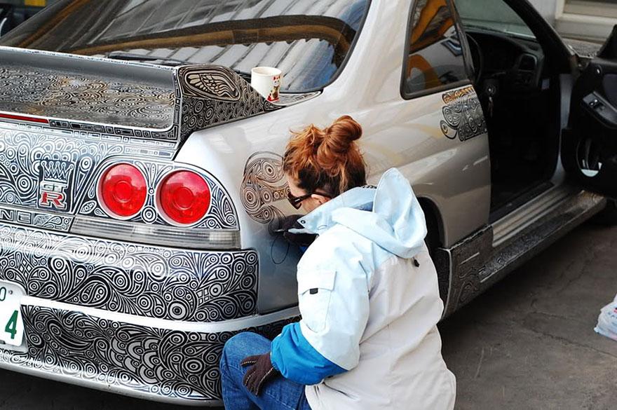 car art doodle drawing