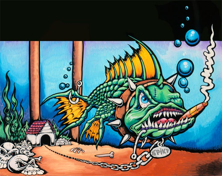 dogfish oil paintings drew