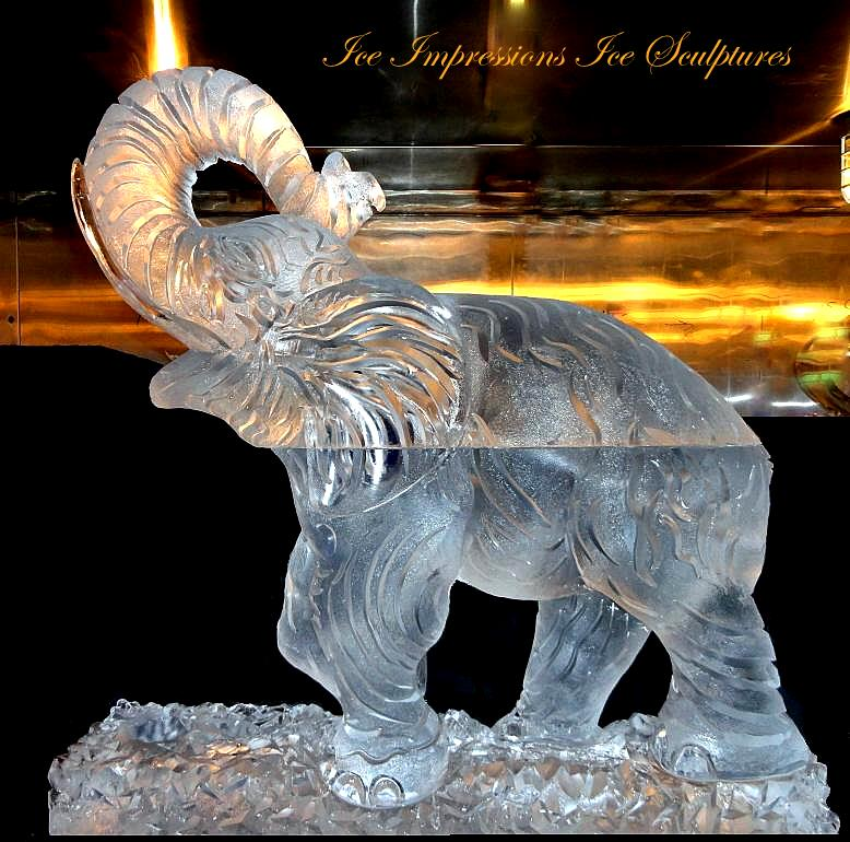 elephant ice sculptures