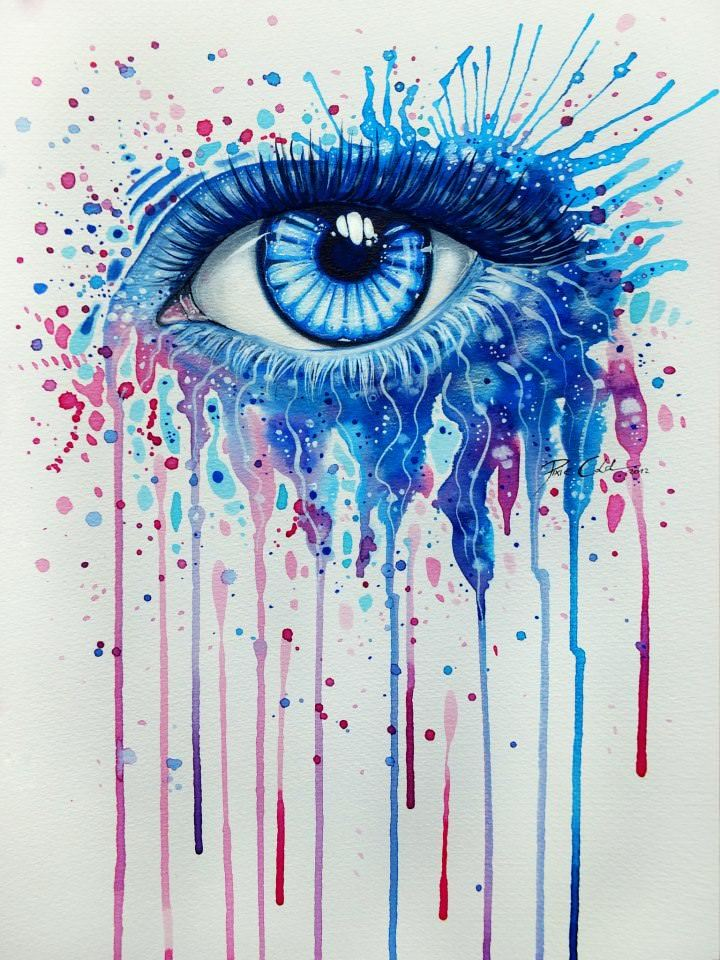 eye watercolor painting svenja