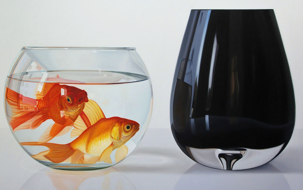 fish bowl oil painting ruddy
