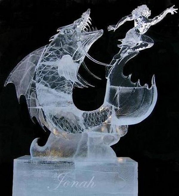 fish ice sculptures