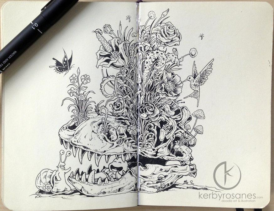 flower mural kerby