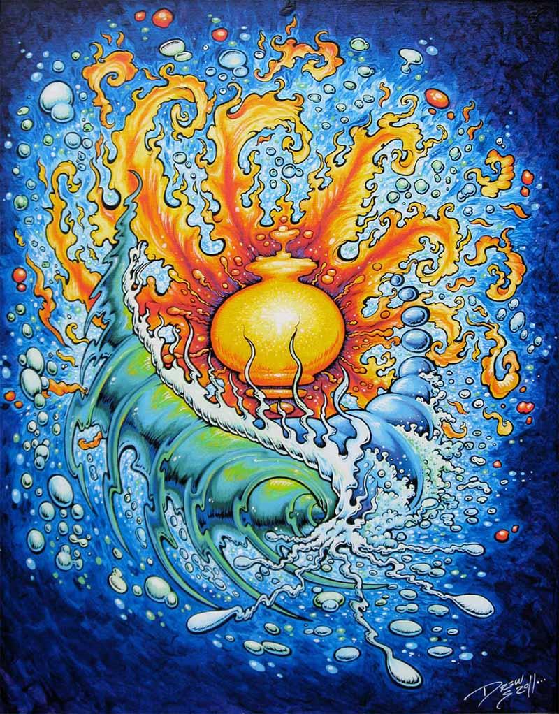 galaxywave oil paintings drew