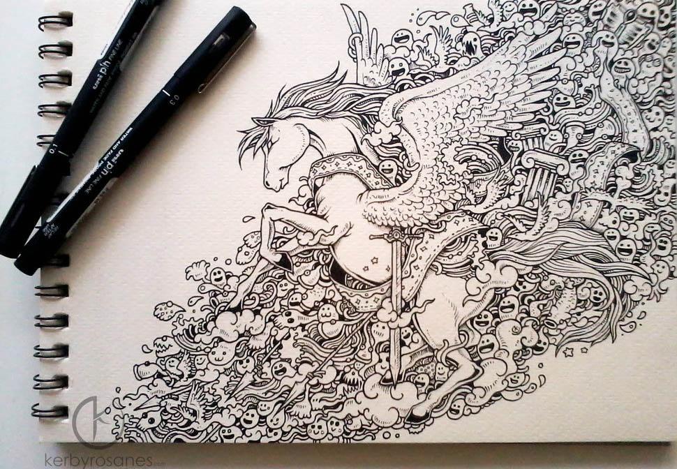horse mural kerby