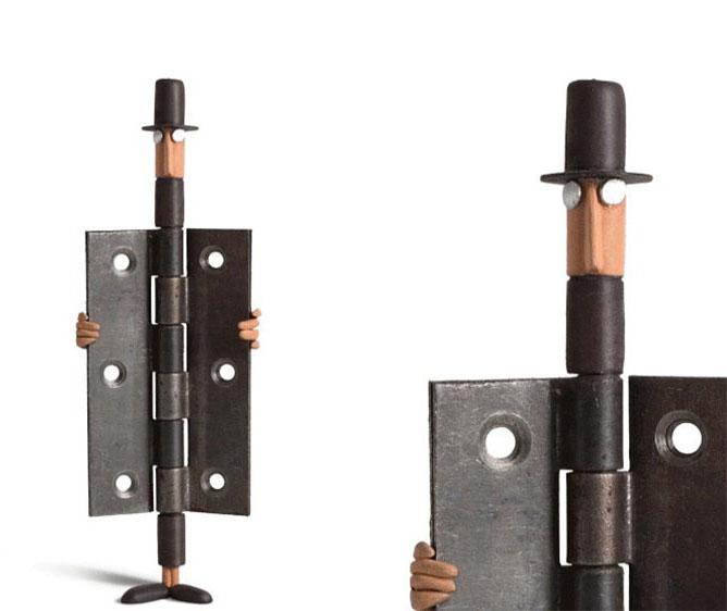 man sculpture creative art