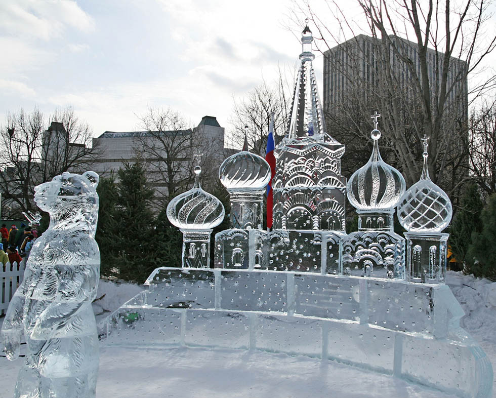 mosque ice sculptures