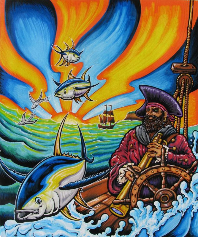 ocean oil paintings drew