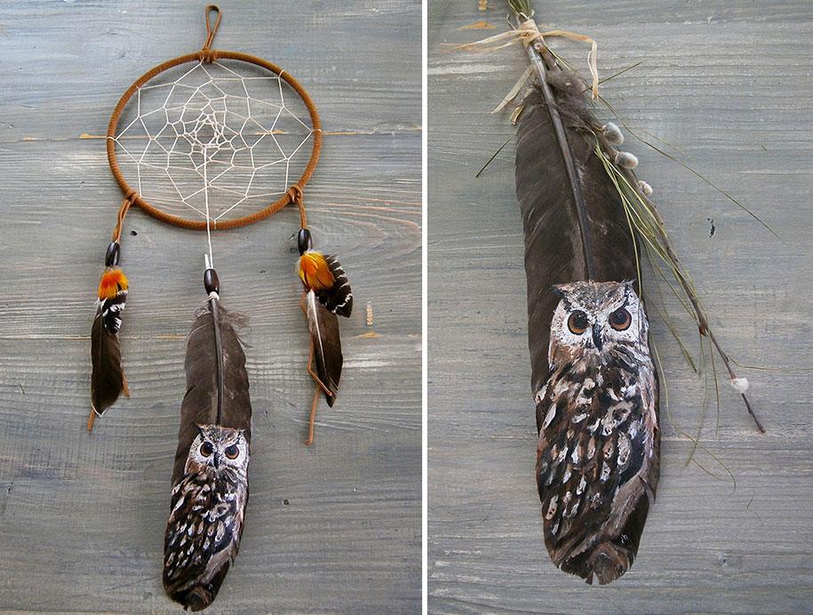 owls paintings jamie