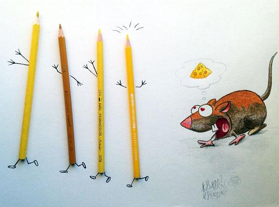 pencil creative illustration ali
