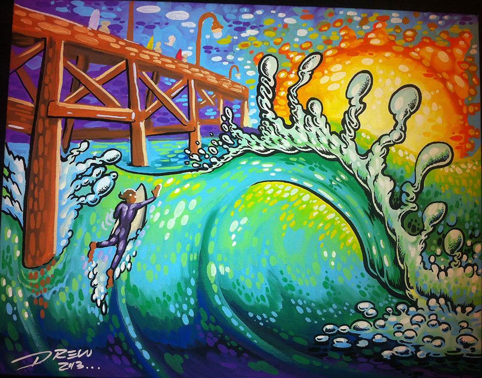 pier oil paintings drew