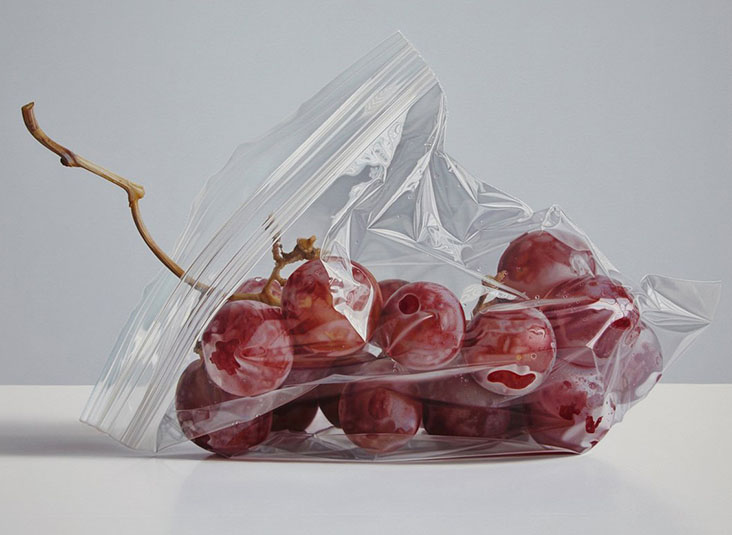plum oil painting ruddy