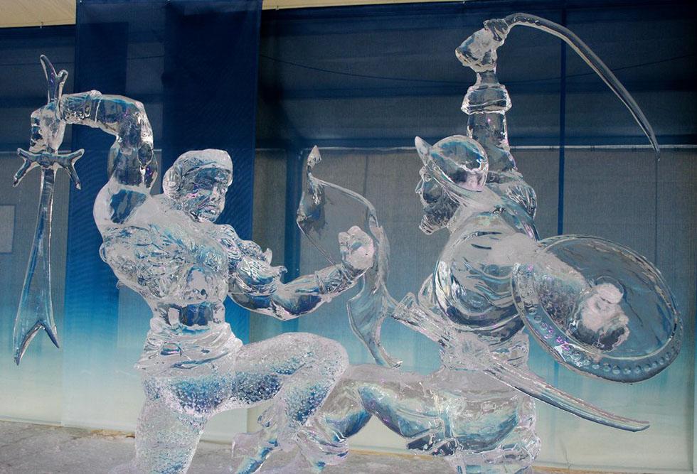soldiers ice sculptures