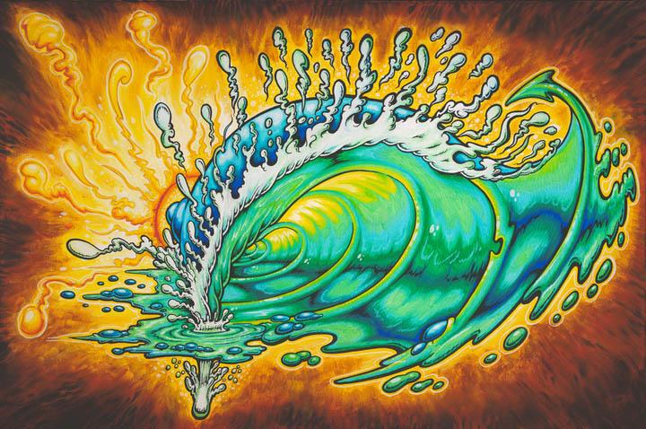 spacewave oil paintings drew