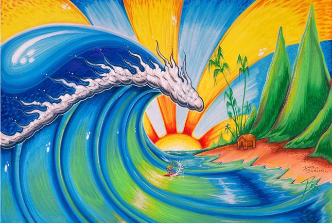 sun oil paintings drew