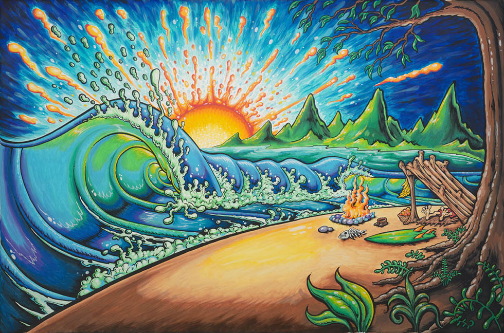 surfed out oil paintings drew