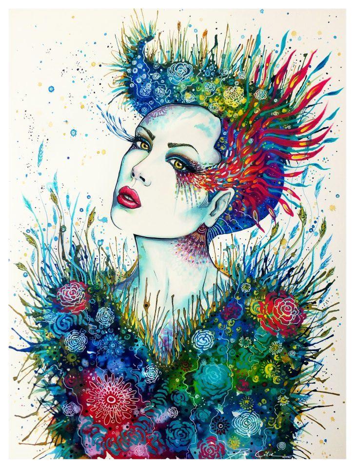 woman watercolor painting svenja