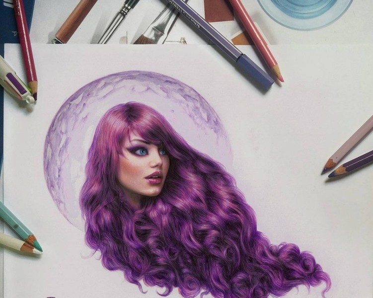 color pencil drawing by ronald