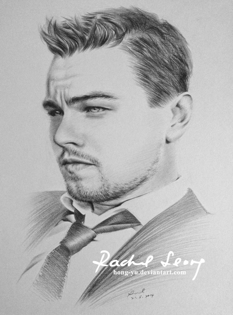 leonardo dicaprio pencil art by leong hong yu