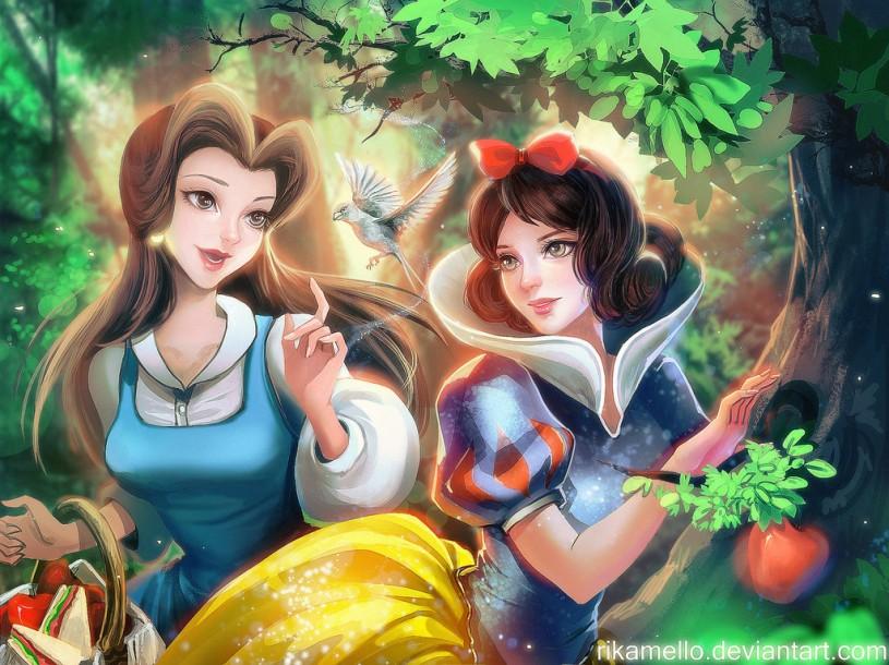 princess digital art works by rika mello